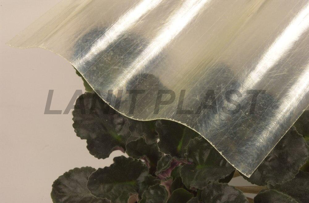 Sklolaminátová deska FILONvlna 177/51 síla 0,86 mm, čirá profil CEMBRIT A5(velký eternit) 0,92x1,25m