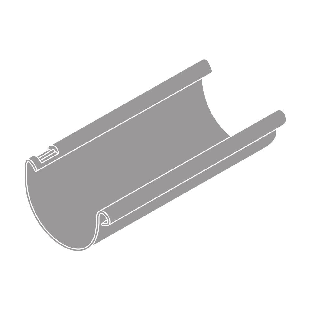 Okapový žlab RG 125 půlkulatý šedá barva 3m