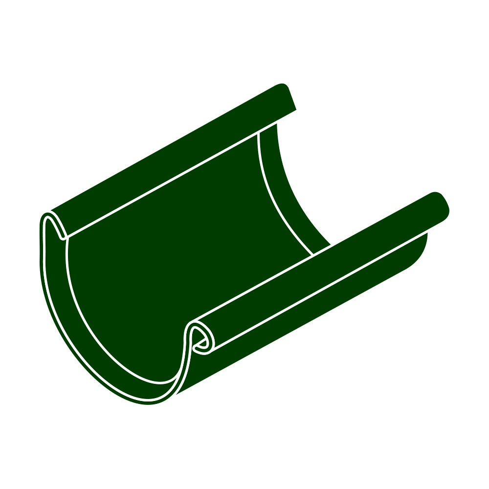 Spojka žlabu RG 125 půlkulatá zelená barva