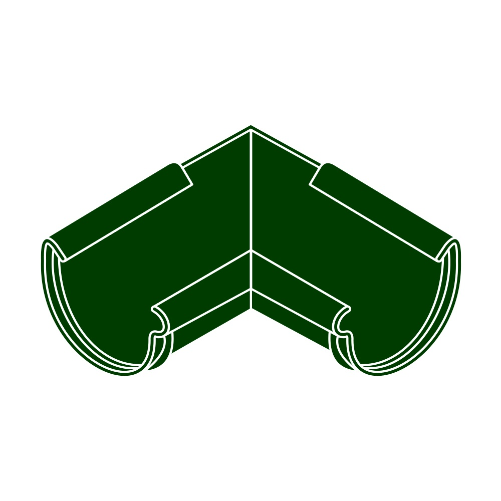 Roh vnitřní RG 125 půlkulatý zelená barva