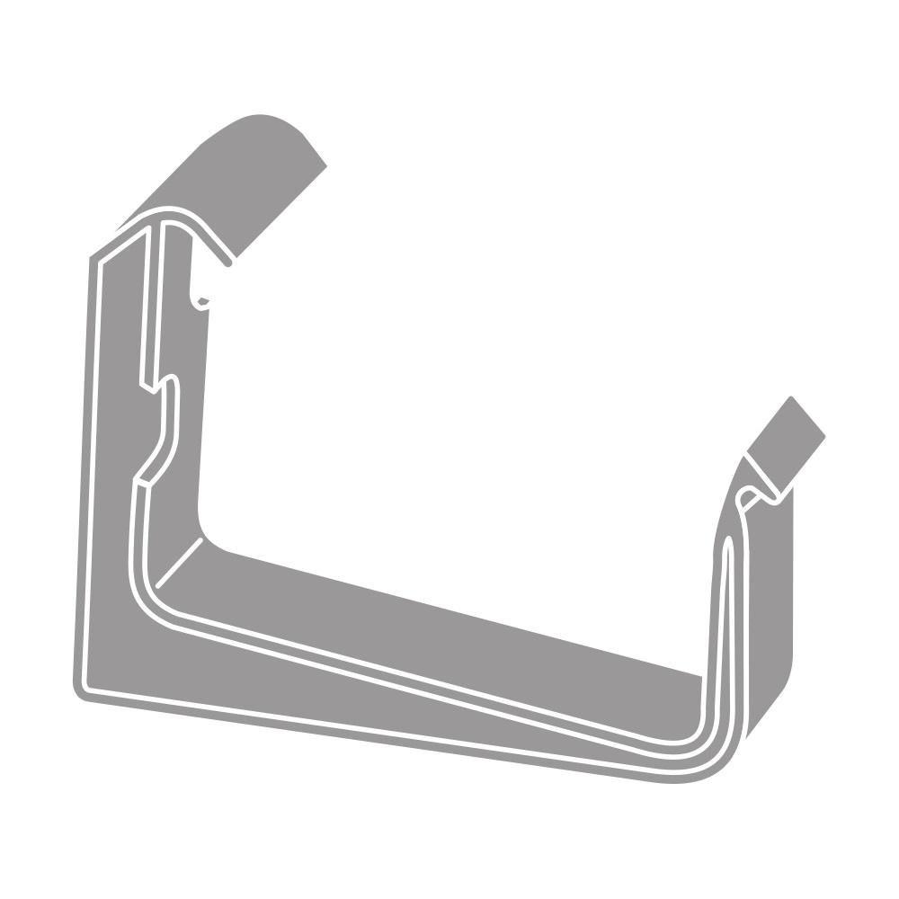 PVC hák RG 70 hranatý šedá barva