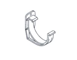 PVC hák RG 75 půlkulatý bílá barva