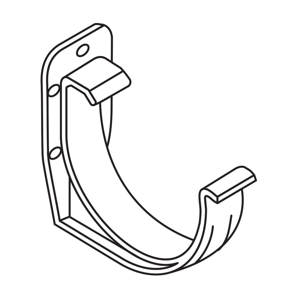 PVC hák RG 100 půlkulatý bílá barva