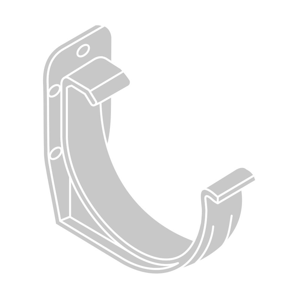 PVC hák RG 100 půlkulatý stříbrná barva