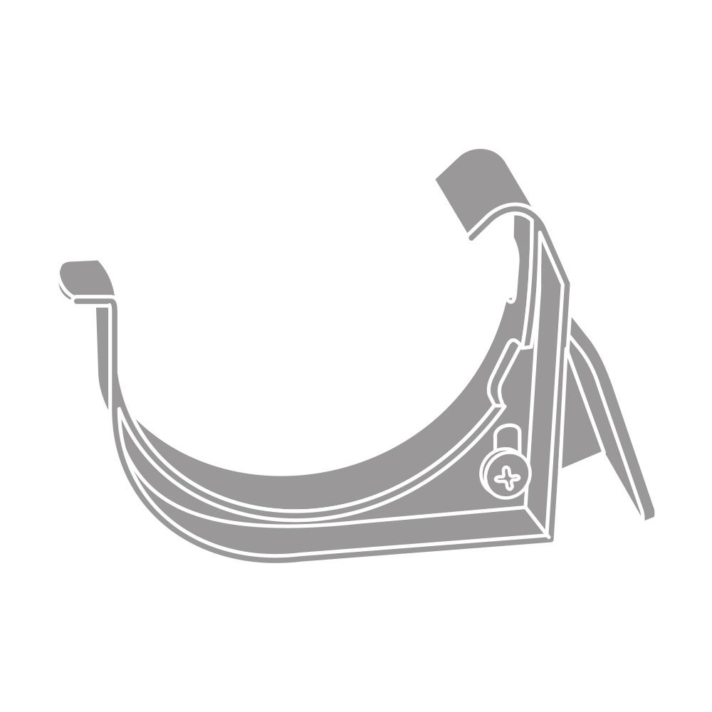 PVC hák s kloubem RG 75 půlkulatý šedá barva