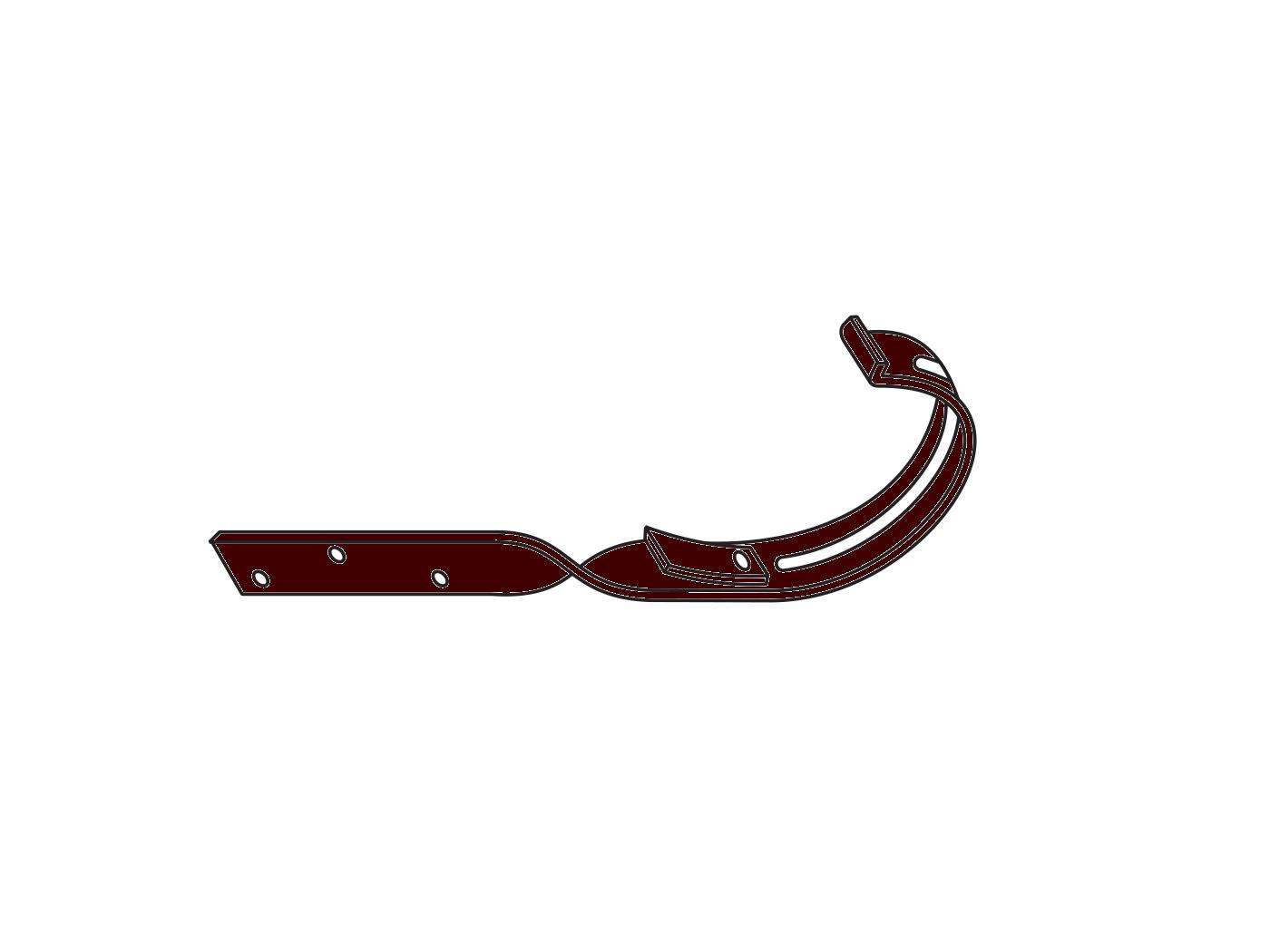 kovový hák překroucený RG 100 půlkulatý hnědá barva