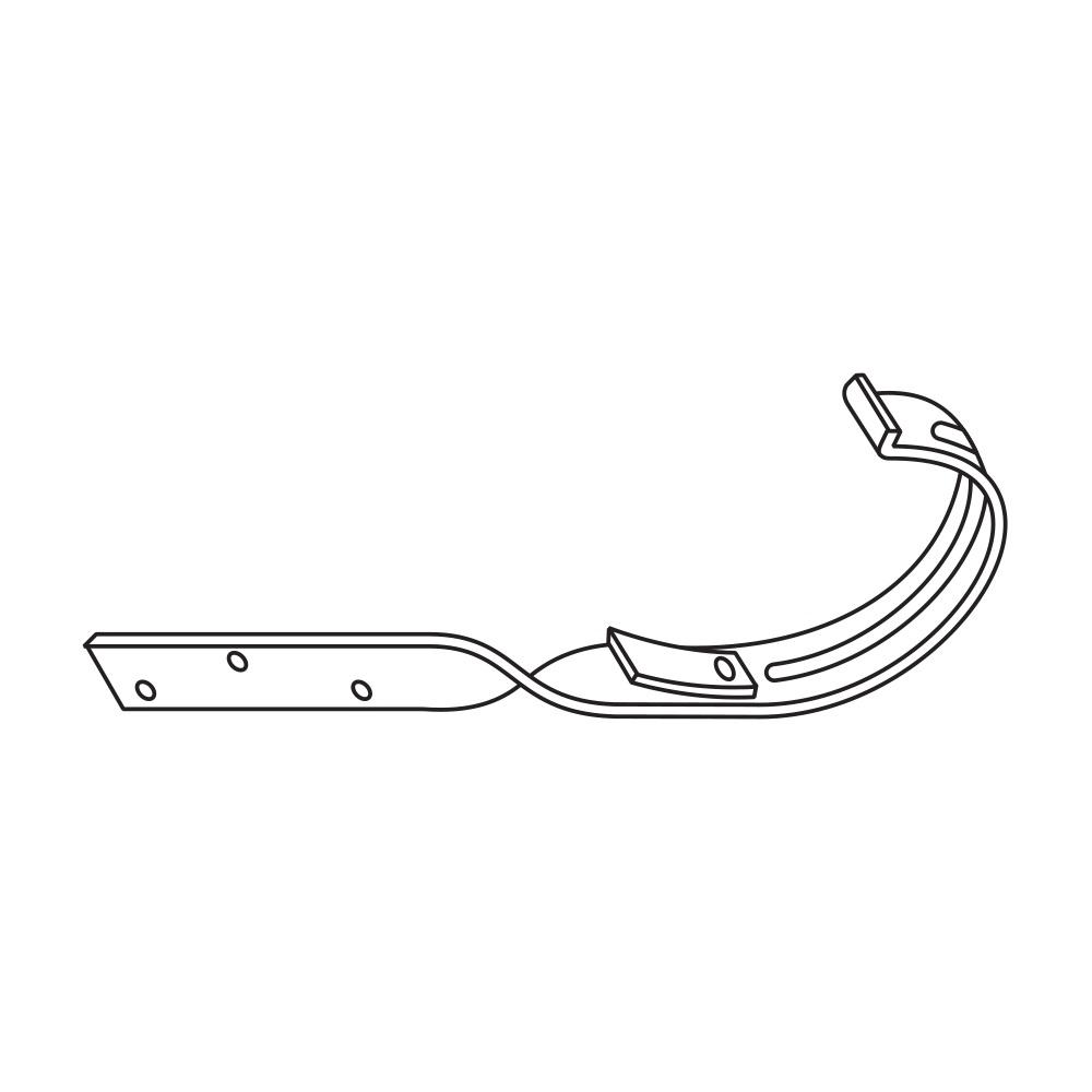 Kovový hák překroucený RG 100 půlkulatý měděná barva