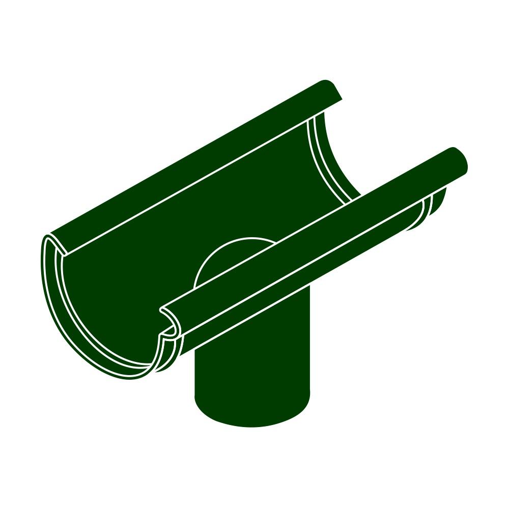 Kotlík DN 125/90 půlkulatý zelená barva