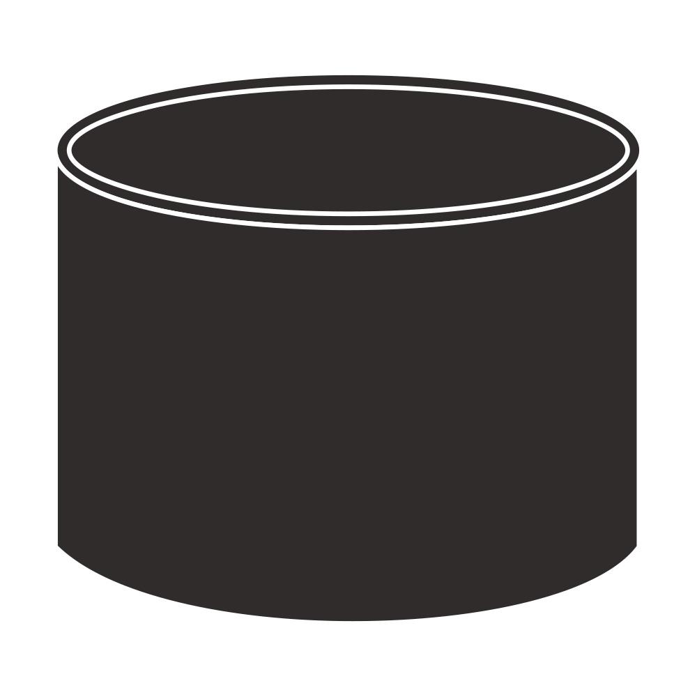 Spojka kolenDN 75 antracitová barva