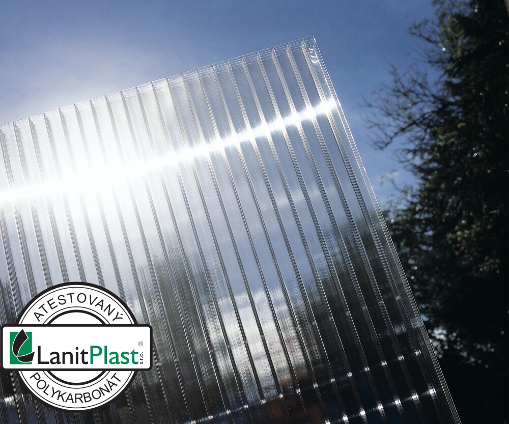 Polykarbonát komůrkový 55 mm čirý - 10 stěn 1,25x6m