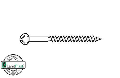 Šroub do železa 4,8 x 50 mm půlkulatá hlava kříž (10 ks)