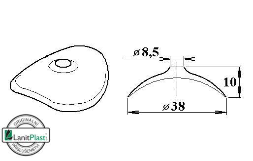 FeZn podložka 38/8,5 oblá pro VL 94/35, 95/38, 100/30, 130/30 (10 ks)