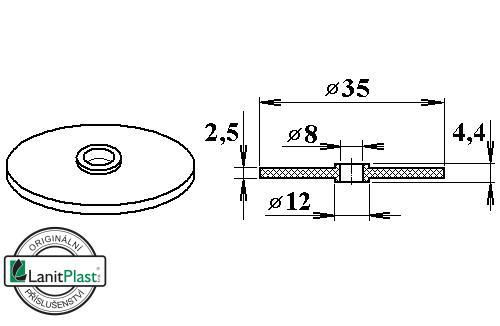 Gumové těsnění V11 pro FeZn podložky (10 ks)