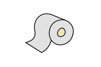 Spodní samolepící mikropryž 60 mm bílá, klubo 30 m