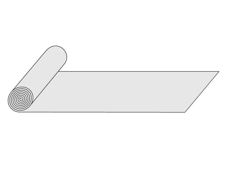 plochá role ze sklolaminátu, výška 1,0 m, síla 1,80 mm, čirá 1m