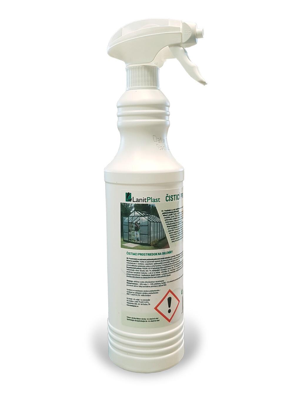 čisticí prostředek na polykarbonátové skleníky 800ml