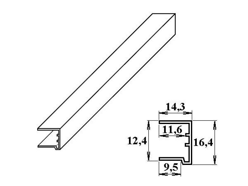 PVC ukončovací U-profil 10 mm bílý 2.10m