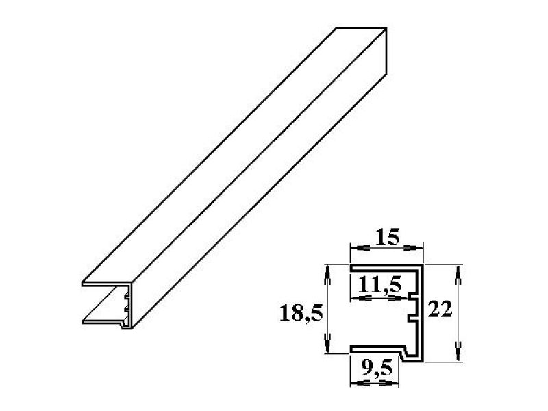 PVC ukončovací U-profil 16 mm bílý 2.10m