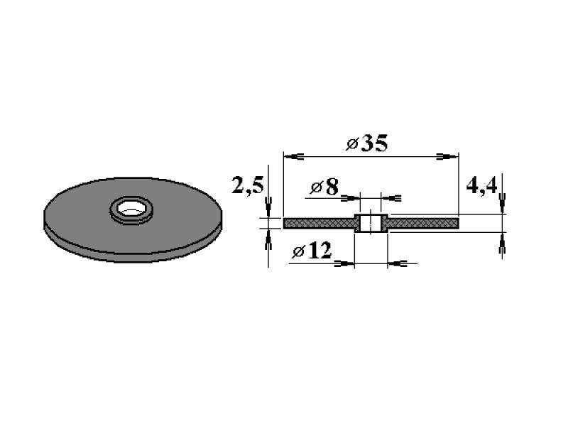 gumové těsnění V11 pro FeZn podložky