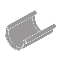 Spojka žlabu RG 75 půlkulatá šedá barva