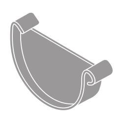Čelo žlabu RG 75 půlkulaté šedá barva