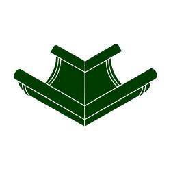 Roh vnější RG 125 půlkulatý zelená barva