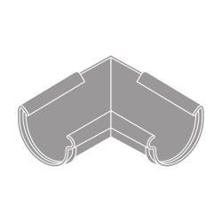 Roh vnitřní RG 125 půlkulatý šedá barva