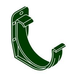 PVC hák RG 100 půlkulatý zelená barva