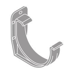 PVC hák RG 125 půlkulatý šedá barva