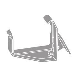 PVC hák s kloubem RG 70 hranatý šedá barva