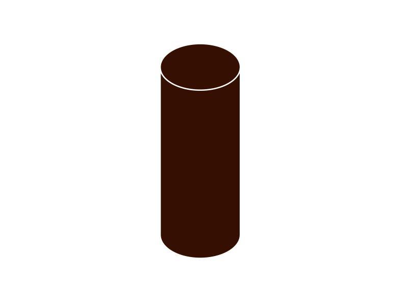 Svodová trubka bez hrdla DN 105 hnědá barva 1m
