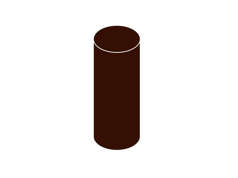 Svodová trubka bez hrdla DN 75 hnědá barva 1m