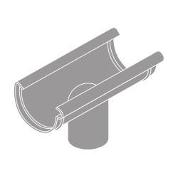 Kotlík DN 125/75 půlkulatý šedá barva
