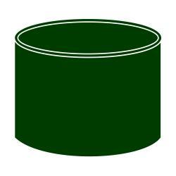 Spojka kolen DN 90 zelená barva