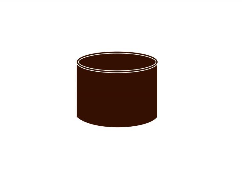 Spojka kolen DN 53 hnědá barva