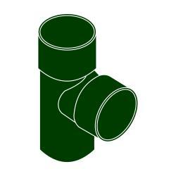 Odbočka svodu 87°DN 90/53 zelená barva