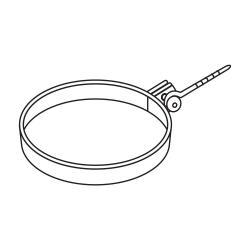 Trubková spona DN 125 - 1 kus šedá barva