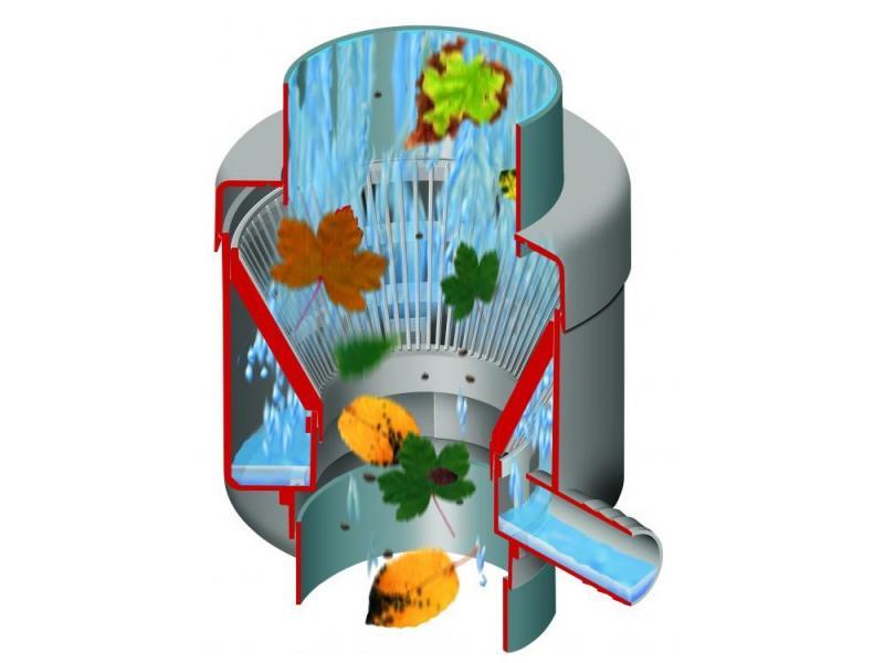 Sběrač dešťové vody RAINBOY s filtrem pro DN 105 hnědá barva