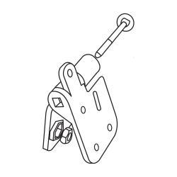 Kloub k PVC hákům RG 100/125 půlkulatý (sada 4 ks)
