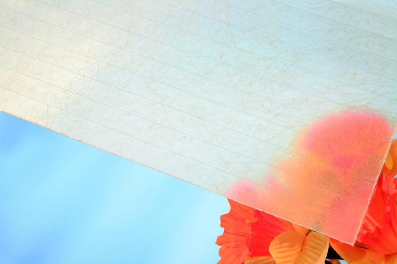 Plochá role ze sklolaminátu, výška 2,0 m, síla 0,85 mm, čirá 1m