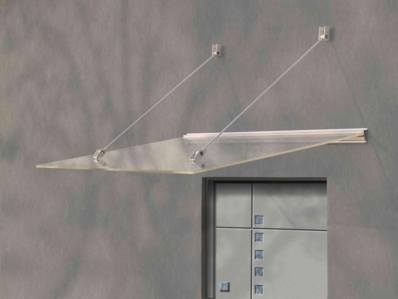 vchodová stříška LANITPLAST LAZUR 150/97 bílá