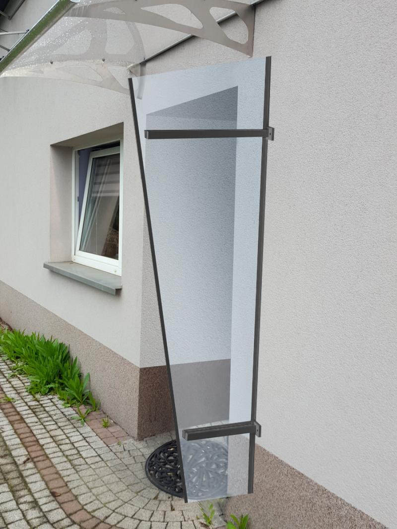 univerzální boční stěna LANITPLAST UNI antracit / PLEXI
