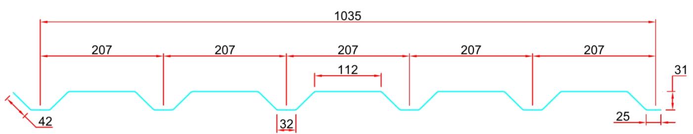 řez trapézem 207/32 SK