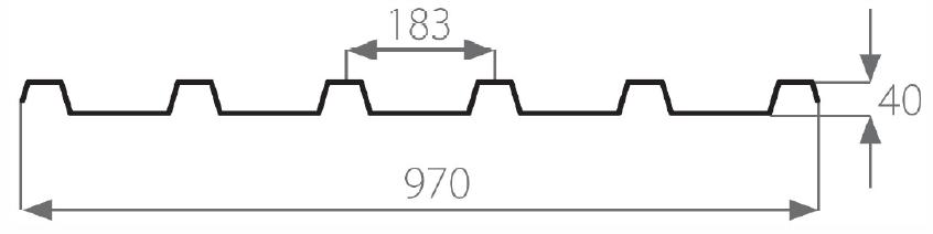 řez trapézem 183/40